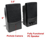 CCD-460W : Color CCD Hard Wired Spy Camera Hidden in PC Speaker with 940nM filter
