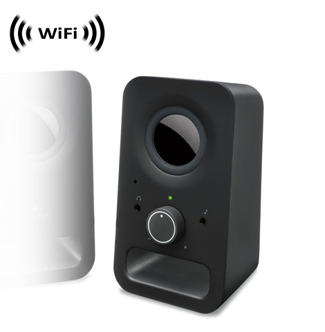 WF-465 : 1080p IMX323 Sony Chip Super Low Light Spy Camera with WiFi Digital IP Signal, Recording & Remote Internet Access, Camera Hidden in Multimedia Speaker