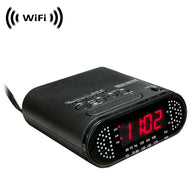 WF-820 : WiFi IP Wireless Spy Camera Hidden in Clock Radio by SCS Enterprises ®