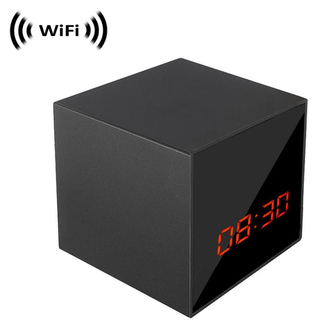 Spy Camera with WiFi Digital IP Signal, Recording & Remote Internet Access, Camera Hidden in a Digital Cube Clock with Night Vision by SCS Enterprises ®