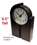 "CCD-850W : 700TVL 1/3"" CCD Spy Hidden Design Clock Camera with 940nM Pinhole Lens"
