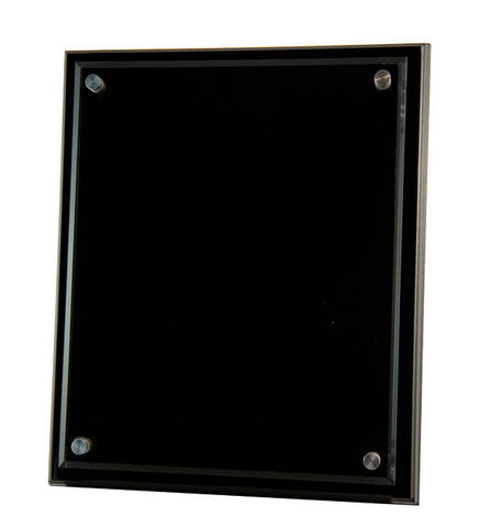 PBKA5 250x200MM BLACK PLAQUE / CLEAR ACRYLIC