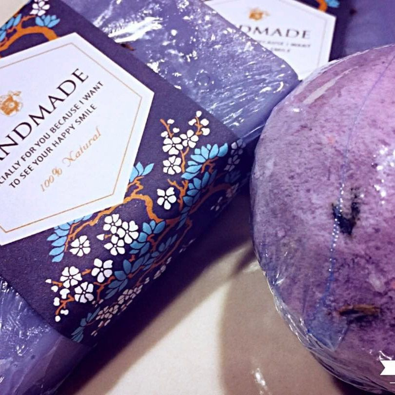 LAVENDER BATH-BOMB & KOSHER SOAPS Combination SO #RELAXING 😌