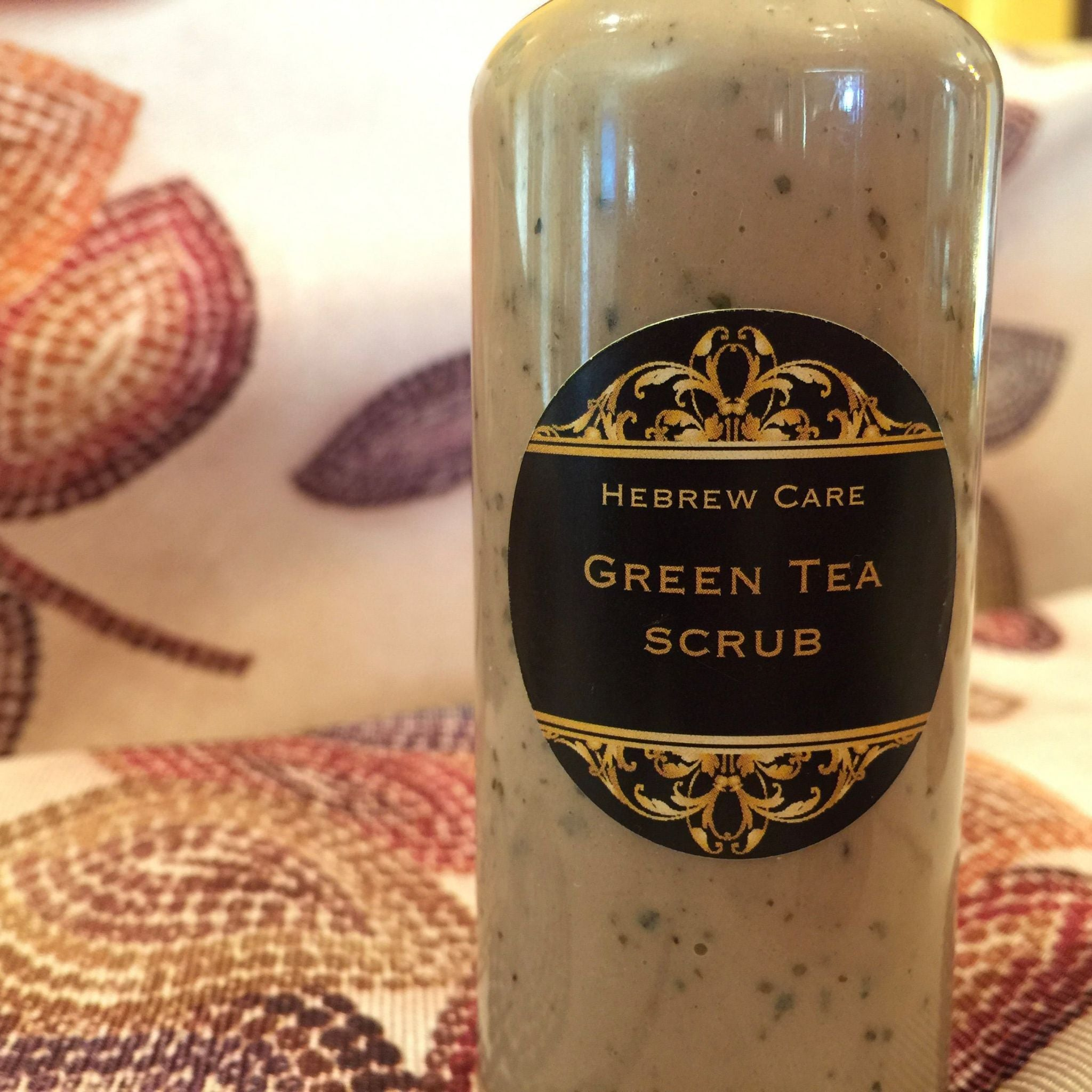 Green tea face scrub