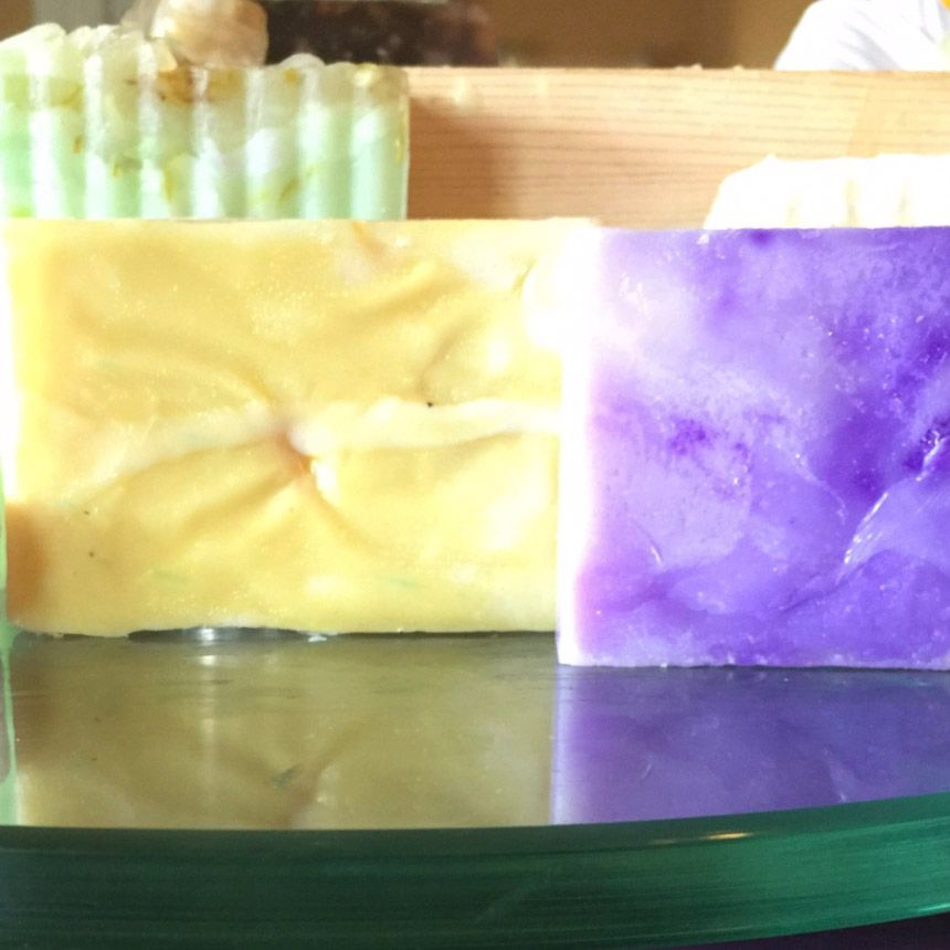 Six Soap Variety Pack by Hebrew Care. Comes w/ soap basket and Loofah soap saver bag