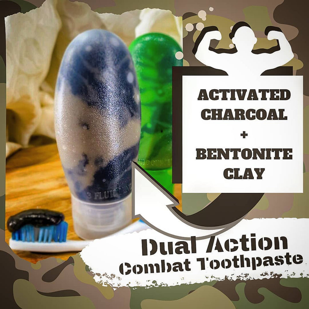 New Activated Charcoal and Bentonite Clay Dual Action Combat Toothpaste