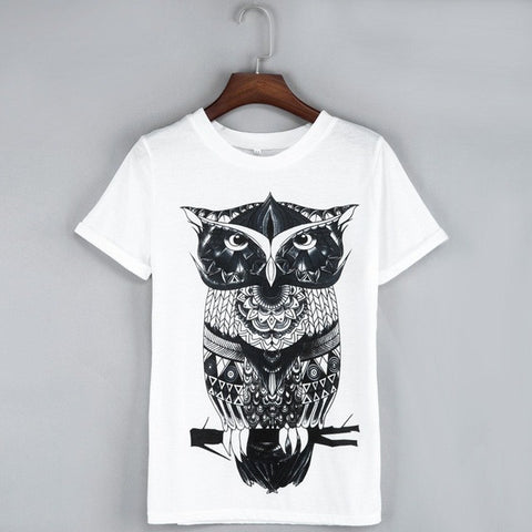 Geometric Owl - Women's T-Shirt