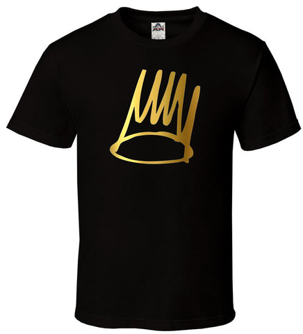 J Cole DreamVille - Gold Black Shirt