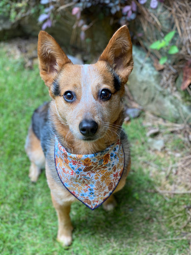Tie On Fall Floral Dog Bandana