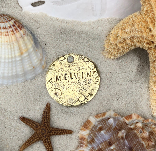 Beach Vibes Dog Tag