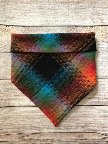 Tie on Adventure Flannel Dog Bandana