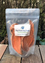 Bag of dehydrated sweet potato chews.