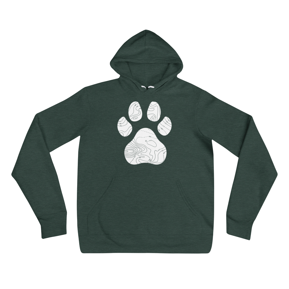 Topographic Paw Hoodie