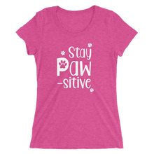 Stay Pawsitive Tri-Blend Tee