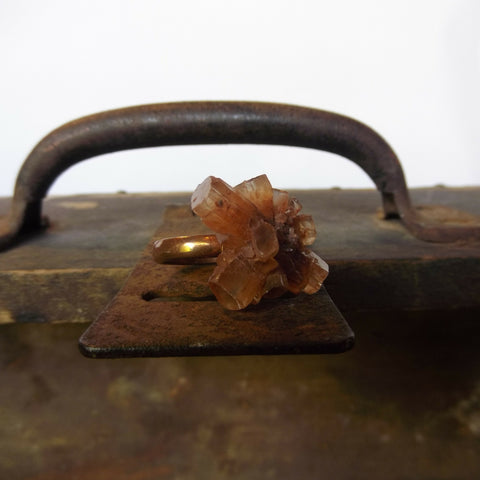 Handmade Aragonite Copper Ring