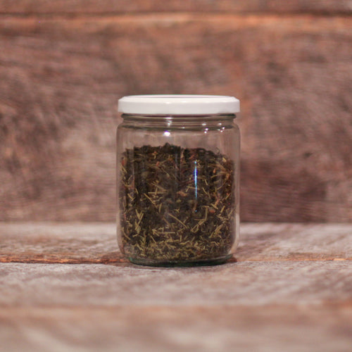 Foraged in the Sea-to-Sky Douglas Fir Spring Tips hand blended with high mountain toasted green tea with luscious umanmi mouthfeel, sweet spring sap and delightful citrus notes of evergreen.