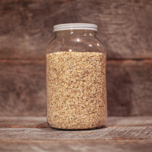 Farmer Direct Co-op regular rolled oats are not rolled as thinly as quick oats.