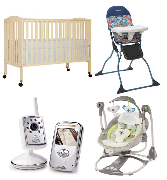 Maui Baby Rental Gear  Crib, monitor, booster chair, baby swing