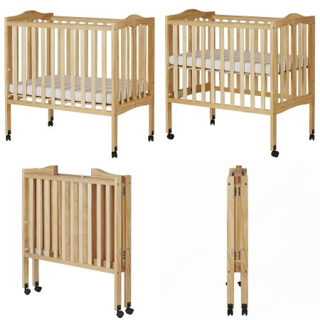 Includes a Dream on Me brand crib (55 x 32 inches) with two bed levels, baby booster chair with tray. baby swing