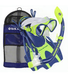 Kids snorkel set. Sized for children and include mask, snorkel and adjustable fins