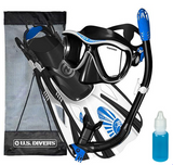 Snorkel set maui rental equipment. Fins, mask, snorkel, carrying case.