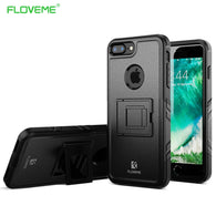 FLOVEME Shockproof Case For iphone 7 plus Anti-knock Armor Slim Phone Cases Aoque for iphone7 plus Kickstand Cover Anti knock - Goodman Electronics Outlet