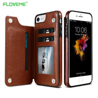 FLOVEME Case For Card Wallet Coque iPhone Samsung Galaxy - Goodman Electronics Outlet