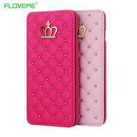 FLOVEME Crown Bling Case For iPhone Samsung - Goodman Electronics Outlet