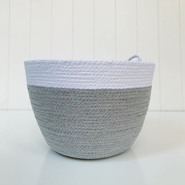 Two toned grey/white rope bowl
