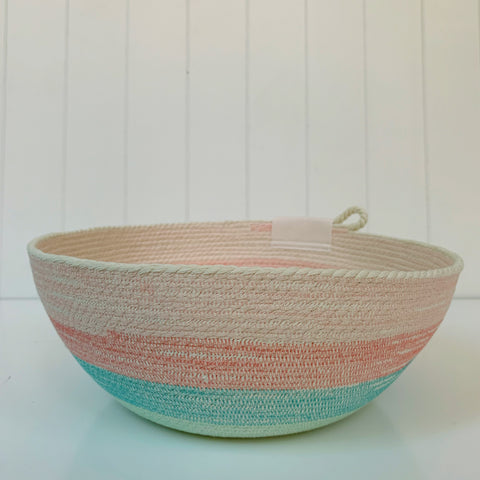 Beach stripe rope bowl