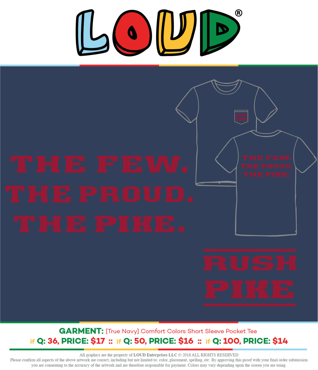 FGCU Pike Fall Rush Shirts 2018