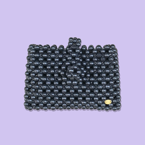 Cindy Summer Bead Bag [Black]