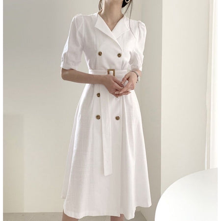 Leelee Button Wrap Dress