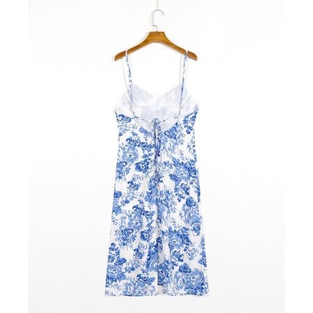 Celine Floral Laceback Dress