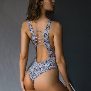 Sparrow Openfront Strappy Back One Piece
