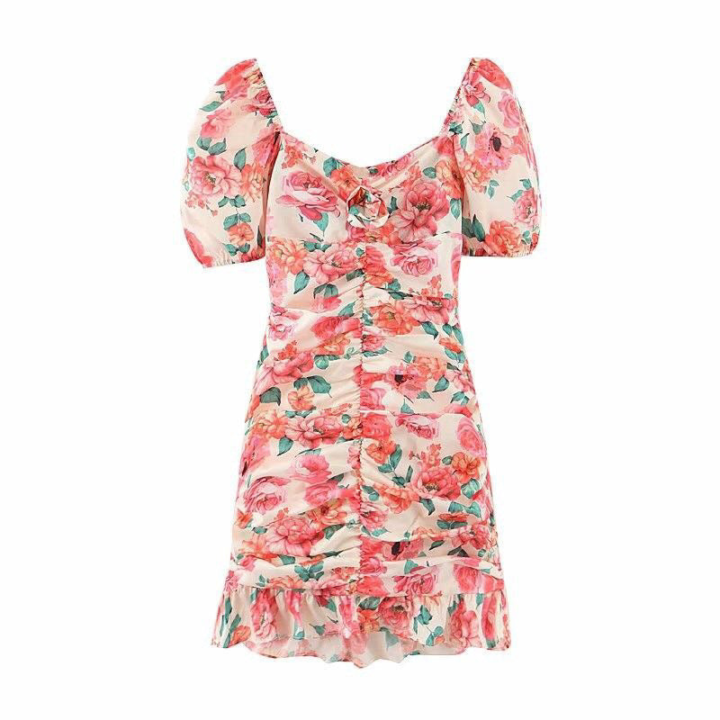 Issey Floral Ribbon Back Dress