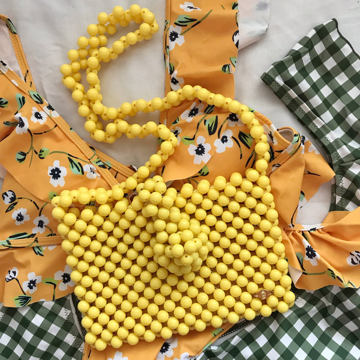 Cindy Summer Bead Bag [Yellow]