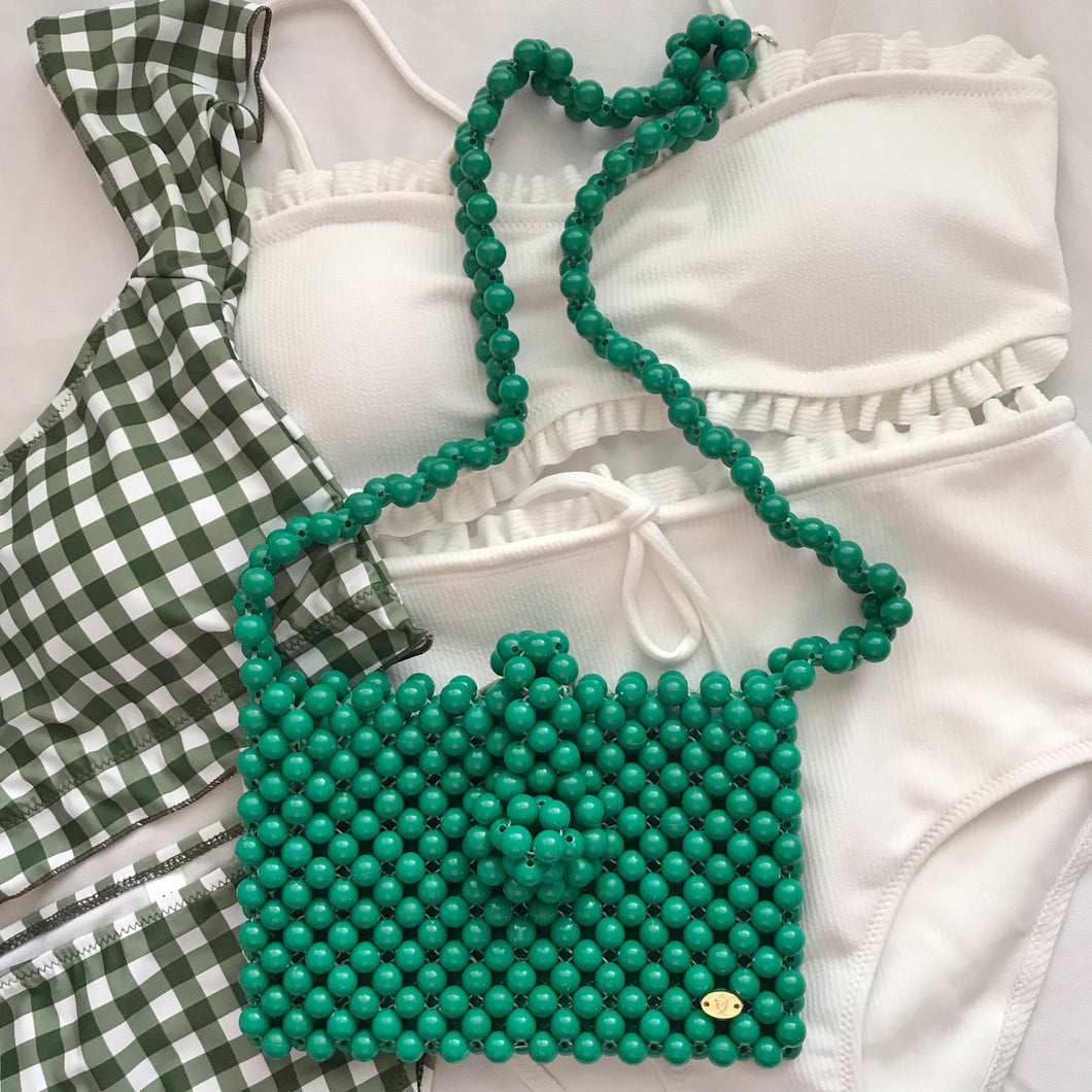 Cindy Summer Bead Bag [Green]