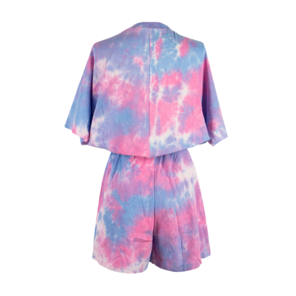 Elin Tie Dye Top & Shorts Set