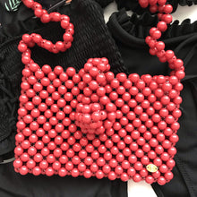Cindy Summer Bead Bag [Red]