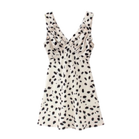 Waris Cow Print Dress