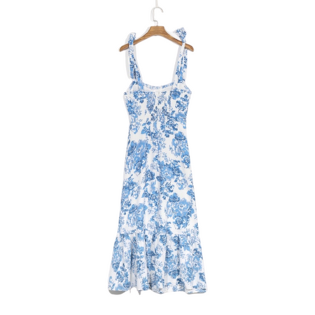 Zahara Tie-Top Floral Dress