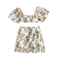 Zuma Floral Top & Skirt Set