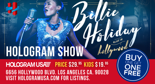 BILLIE HOLIDAY LIVE HOLOGRAM SHOW TICKETS