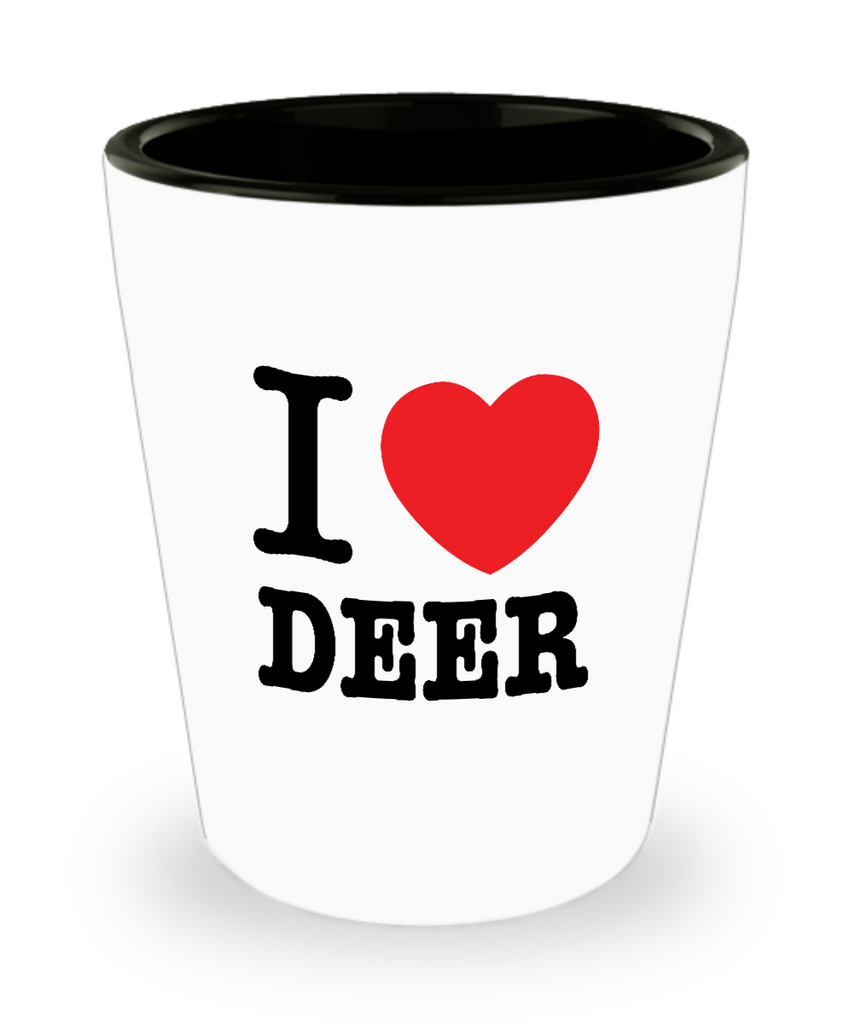 I Heart Deer Shot Glass