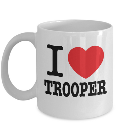 I Heart Trooper / I Heart Patch Coffee Mug