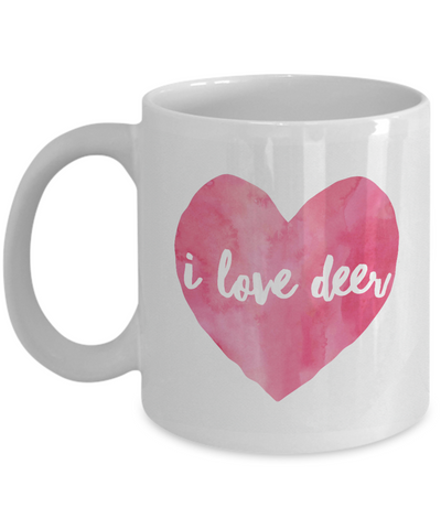 I Love Deer Coffee Mug