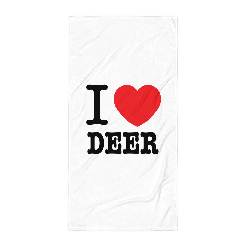 I Heart Deer Beach Blanket