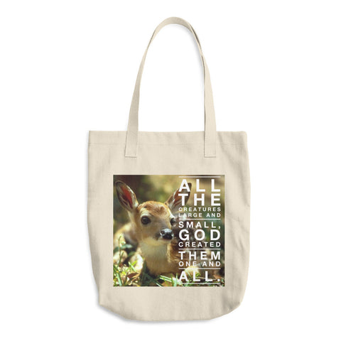 All The Creatures - Cotton Tote Bag