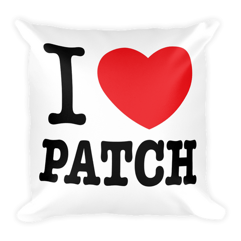 I Heart Patch Square Pillow